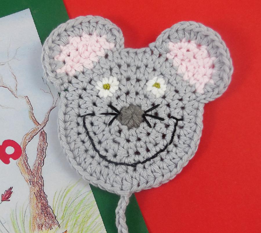 Maus Der Weihnachtsdieb Maus Lesezeichen Handgehäkelt